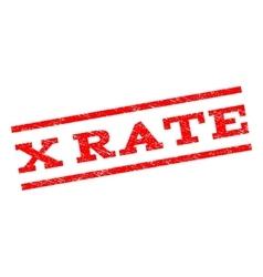 X Rate Watermark Stamp vector