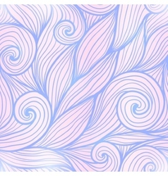 Blue and pink trendy colors hand drawn curly waves vector image