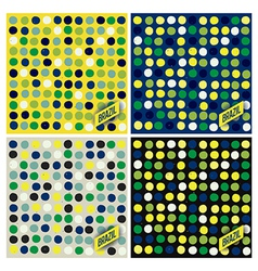 Brazil spots pattern background vector image vector image