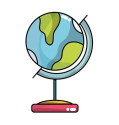 global earth planet desk design vector image