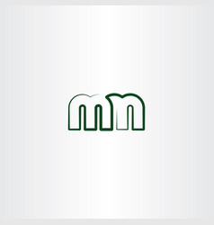 Letter m and n line logo icon vector