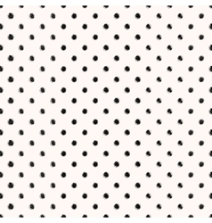 Scribble seamless dots pattern vector image