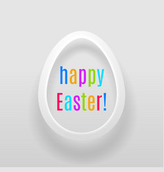 easter egg with multicoloured words happy easter vector image vector image