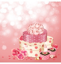 heart shaped gifts sweets vector image vector image