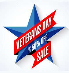 veterans day sale banner template vector image