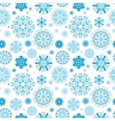 Blue Snow Pattern vector image vector image