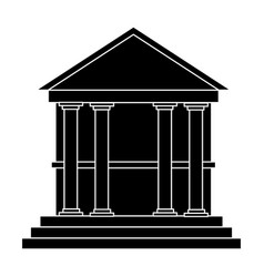 classical building with columns university bank vector image