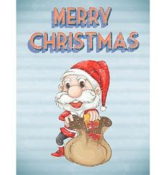 Retro christmas poster vector image