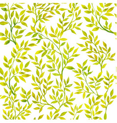 watercolor green flora vector image vector image