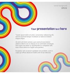 White Rainbow Presentation Background vector image
