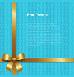 best present certificate or greeting card design vector image