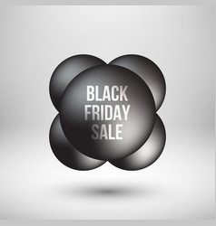 black friday sale bubble badge vector image vector image