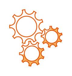 gear teamwork wheel mechanism power vector image vector image