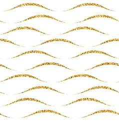 Gold wave seamless pattern white 4 vector