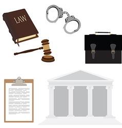 Law symbols vector image