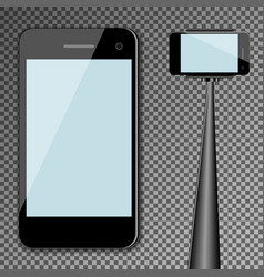 mockup template black modern realistic smartphone vector image vector image