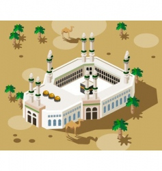 mosque in Mecca vector image vector image