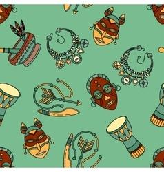 Pattern with voodoo symbols vector
