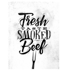 poster smoked beef vector image vector image