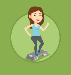 woman exercising on steeper vector image vector image
