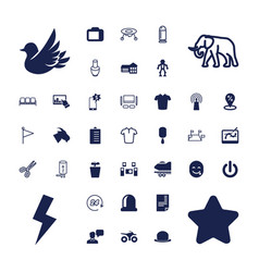 37 set icons vector