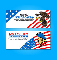 4th of july greetings banner vector image