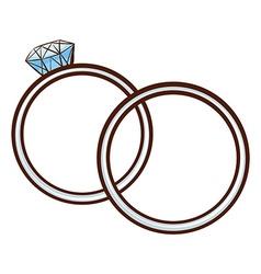 A simple sketch of a wedding bond vector