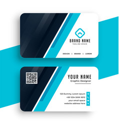 Abstract blue corporate business card template vector