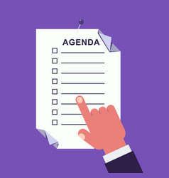 Agenda concept vector