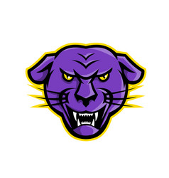 Angry black panther head mascot vector