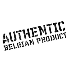 Authentic belgian product stamp vector