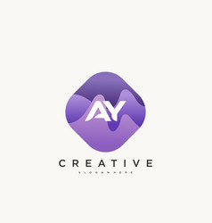 Ay initial letter logo icon design template vector