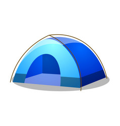 Blue dome tent raster on isolated vector
