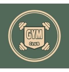 Bodybuilding coat of arms vector
