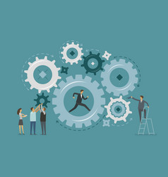 business infographic teamwork collaboration vector image