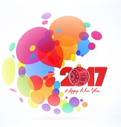 Christmas and happy new year 2017 Colorful vector image