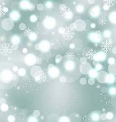 Christmas cute wallpaper with sparkle snowflakes vector