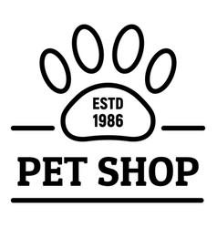 City pet shop logo outline style vector
