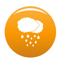 Cloud rain icon orange vector