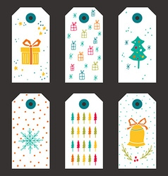 collection of christmas gift tags vector image
