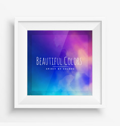 Colorful poster wall frame vector