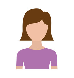 colorful silhouette faceless half body young woman vector image