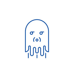 computer monster line icon concept computer vector image