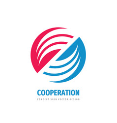 cooperation abstract logo concept vector image