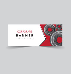 Corporate banner with lens camera vector