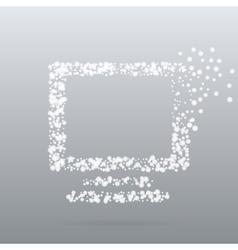 Creative dot icon vector image