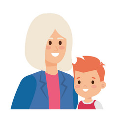 Cute grandmother with grandson vector
