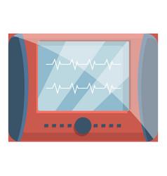 Defibrillator icon cartoon style vector