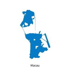 Detailed map of Macau vector