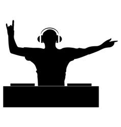 DJ Silhouette vector